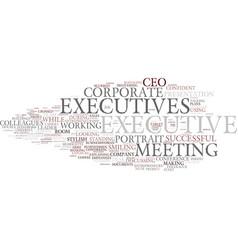 Executives word cloud concept vector