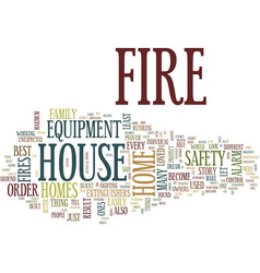 Fire safety equipment text background word cloud vector