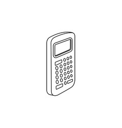 flat electronic calculator icon vector image