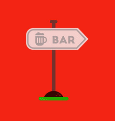 Flat icon on background sign of bar vector