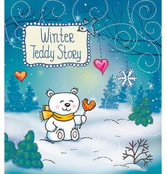 funny winter christmas story vector image