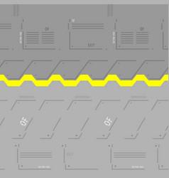 Futuristic space gate vector
