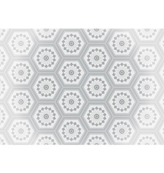 Geometric gray flower seamless pattern vector image