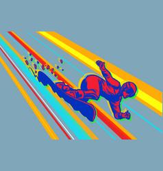 giant slalom snowboard winter sports vector image