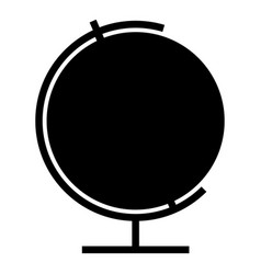 Globe icon black color flat style simple image vector
