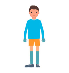 goalkeeper icon flat style vector image