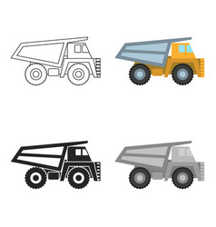 Haul truck icon in cartoon style isolated on white vector