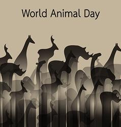 Image an animal groups vector
