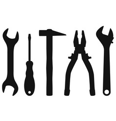 industrial tools kit - spanner screwdriver vector image