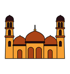 Islamic temple religious vector