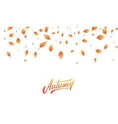 Leaves background fall autumn leaves frame vector