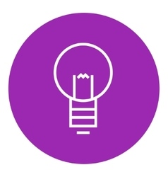 Lightbulb line icon vector