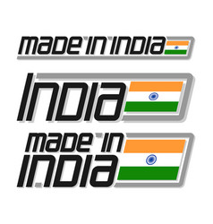 Made in india vector