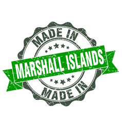 Made in marshall islands round seal vector