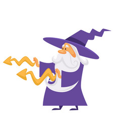 magician or wizard putting spell or making magic vector image