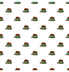 Men hat pattern cartoon style vector