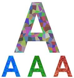 Mosaic font design - letter a vector