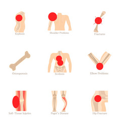Orthopedic icons set cartoon style vector
