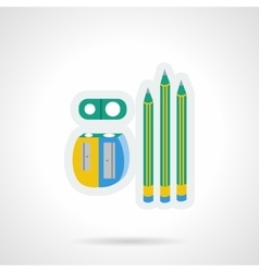Pencils flat color design icon vector image