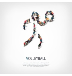 people sports volleyball vector image
