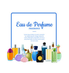 perfume bottles with place for text vector image
