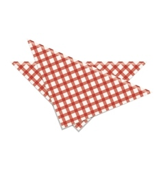 Picnic napkin icon vector