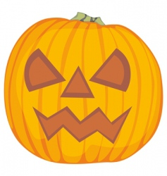 Pumpkin on a white background vector