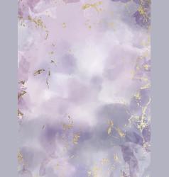 Purple watercolor fluid painting design vector