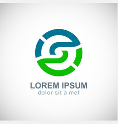 Round circle environment logo vector
