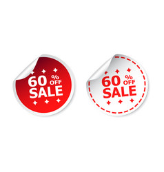 sale sticker sale up to 60 percents business sale vector image