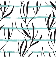 seamless pattern with hand drawn stripes vector image