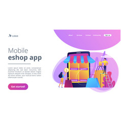 Seller reputation system concept landing page vector