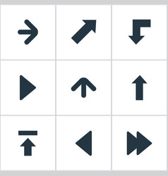 set of 9 simple indicator icons can be found such vector image