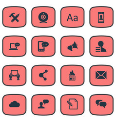 set of simple user icons vector image