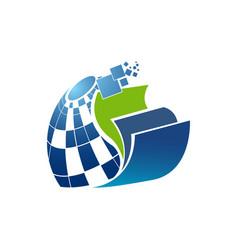 Smart book logo design vector
