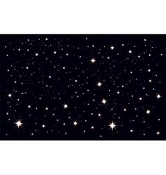 Starry sky Stars in the night sky vector image