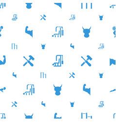 Strong icons pattern seamless white background vector