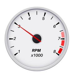 Tachometer car dashboard white gauge white vector