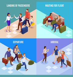 travel people 2x2 design concept vector image