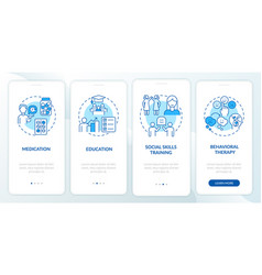 Treatment plan for adhd onboarding mobile app vector