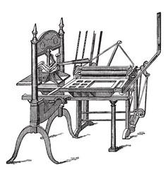 Washington press vintage vector
