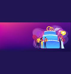 wedding party concept banner header vector image