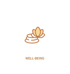 Well-being concept 2 colored icon simple line vector