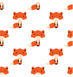 winter pattern with fox vector image