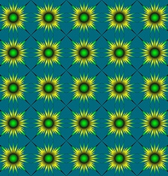 Yellow-green abstract flowers vector image