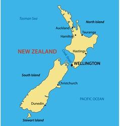 New Zealand - map vector image