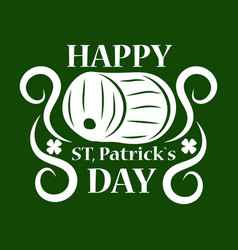 saint patrick day symbol of green ale beer pub vector image