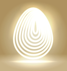 Shining wired egg background vector image vector image