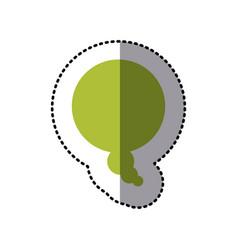 sticker green bubble dialog box design vector image vector image