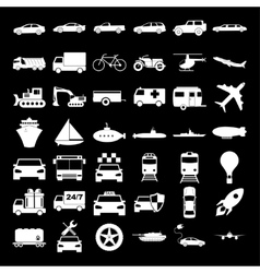 Transport icons concept for vector image